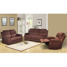 Denver 3 Piece Microfiber Reclining Living Room Set