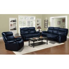 Omaha 3 Piece Bonded Leather Living Room Set