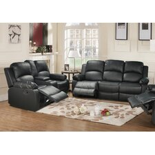 Amado 2 Piece Leather Reclining Living Room Set
