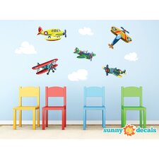 Vintage Airplane Fabric Wall Decal