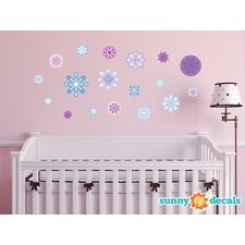 Frozen Inspired Snowflake Fabric Wall Decal