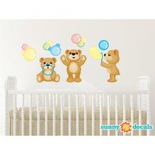 Teddy Bears Fabric Wall Decal