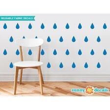 Raindrop Fabric Wall Decal (Set of 40)