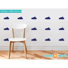 Clouds Fabric Wall Decal (Set of 18)