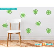 Starburst Fabric Wall Decal (Set of 8)