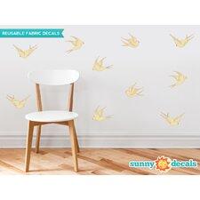 10 Piece Modern Birds Wall Decal Set