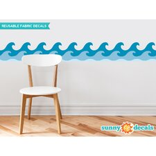 Wave Border Wall Decal (Set of 2)