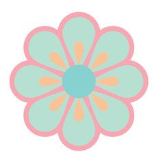 Flower Wall Decal (Set of 28)