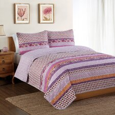 Spice Scroll Bands Quilt Set