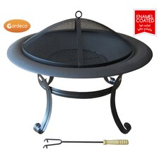 Cassio Steel and Enamel Fire Pit