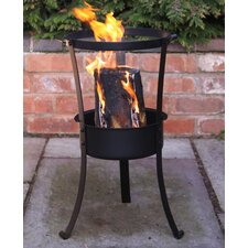 Swedish Log Cast Iron Wood Fire Pit