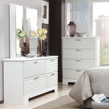 Action 4 Drawer Dresser with Mirror