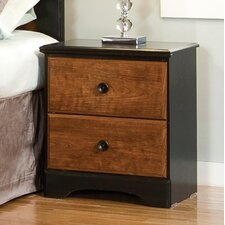Steelwood 2 Drawer Nightstand