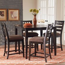 Sparkle 5 Piece Counter Height Dining Set