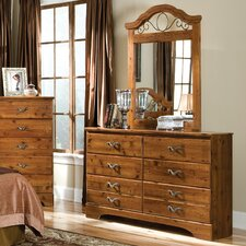 Hester Heights 6 Drawer Dresser with Mirror