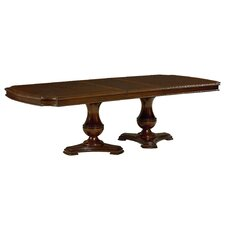 "Carrington Double Pedestal Table Top with 20"" Leaf"