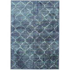 Teppich Vintage Velux in Blau