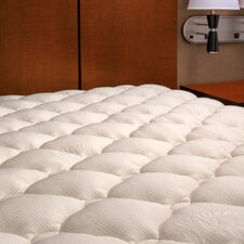 Extra Plush Rayon from Bamboo Top Mattress Pad with Hypoallergenic Revoloft Fiber Fill Material