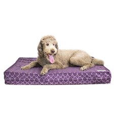 "Purple 5"" Thick Soft/Firm Reversible Gel Memory Foam Orthopedic Dog Bed"
