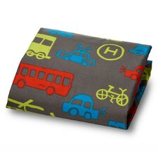 Modern Transportation Ultra Microfiber Fitted Crib Sheet