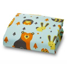 Little Woodland Creatures Ultra Microfiber Fitted Crib Sheet
