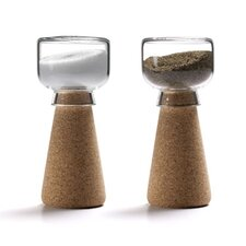 2 Piece Cork Salt & Pepper Shaker Set