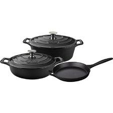 Oval Pro Enameled Cast Iron 6-Piece Cookware Set
