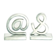 Aluminum Book Ends (Set of 2)