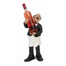 Urban Trends Polystone Waiter 1 Bottle Tabletop Wine Rack