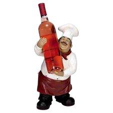 Urban Trends Polystone Chef 1 Bottle Tabletop Wine Rack