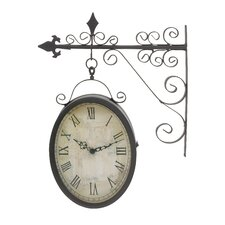 Metal Outdoor Double Clock