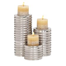 3 Piece Metal Candlestick Set