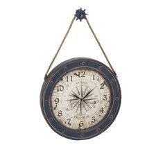 "Adrift Oversized 24"" Classic Designed Metal Wood Wall Clock"