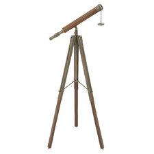 Decorative Aluminum Wood Telescope