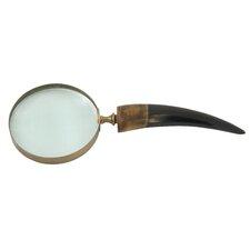 Brass Horn Magnifying Glass