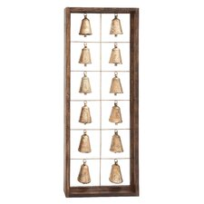 Wood and Metal Bell Framed Wall Décor