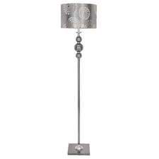 "Metal and Glass 65"" Floor Lamp"