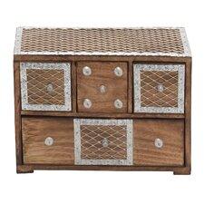 Wood and Metal Inlay Box