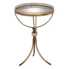 Metal Mirrored Tray Table