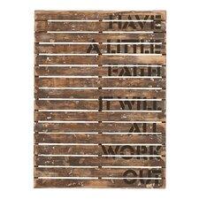 Wooden Textual Art