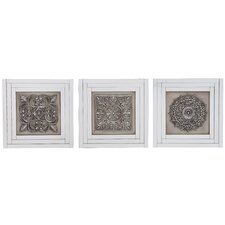 3 Piece Wood and Mirror Wall Decor Set (Set of 3)