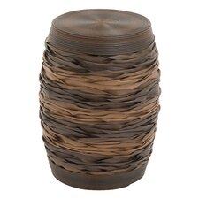 Wood and PE Rattan Stool