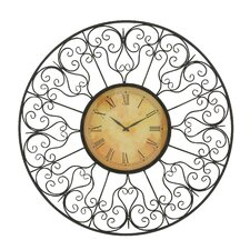 "32"" Metal Outdoor Clock"