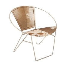 Metal Hide Leather Side Chair (Set of 2)