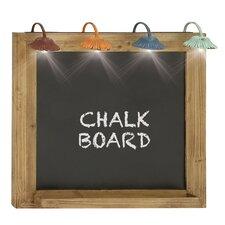 Wood Lite Wall Mounted Chalkboard, 2' H x 2' W