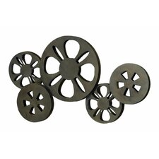 Decorative Metal Movie Reel Sculpture