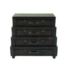Wood/Leather Dresser