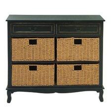 Wood Seagrass Dresser