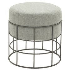 Outdoor Metal and Fabric Stool