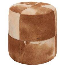 Leather Hide Ottoman
